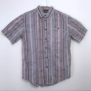 Harley-Davidson • Pinstriped Button Up Shirt
